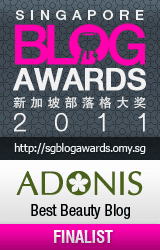 Singapore Blog Awards 2011 Best Beauty Blog Finalist