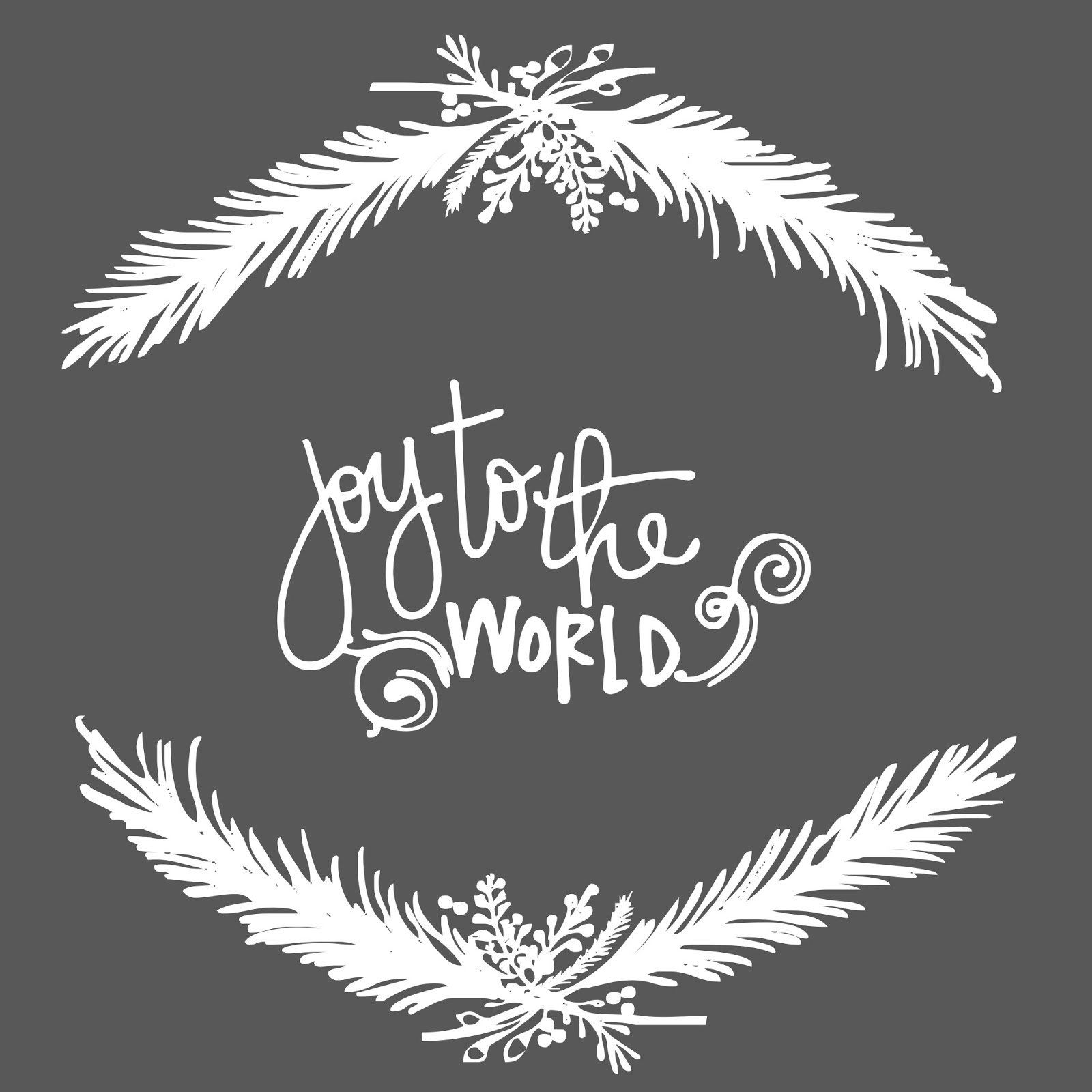 Joy to the World Christmas Free Printable | A Vision to Remember ...