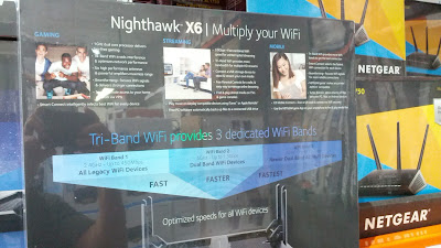 Download and stream your favorite internet content with the Netgear Nighthawk X6 AC3000 Wifi Router