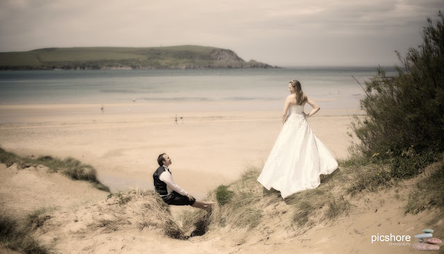 Daymer Bay Cornwall beach wedding Picshore Photography