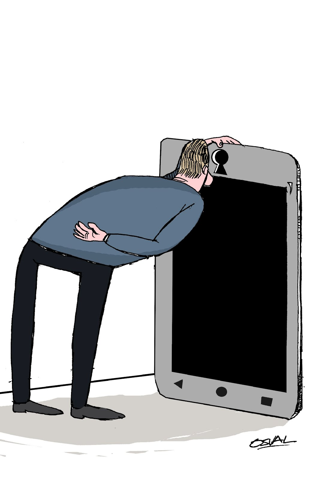 La  Caricatura de Osval
