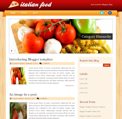 Italian Food Blogger Theme