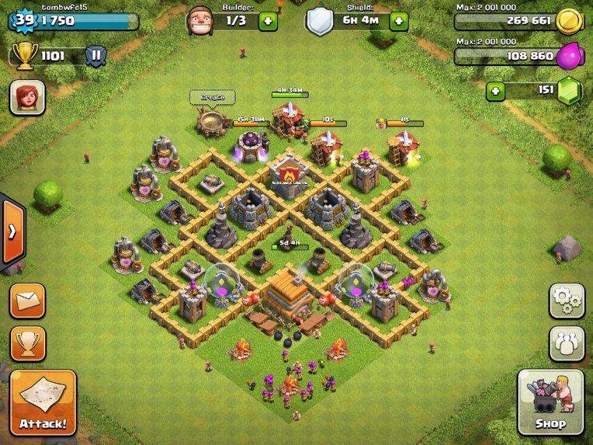 Until town hall level 8 town hall 6 farming base