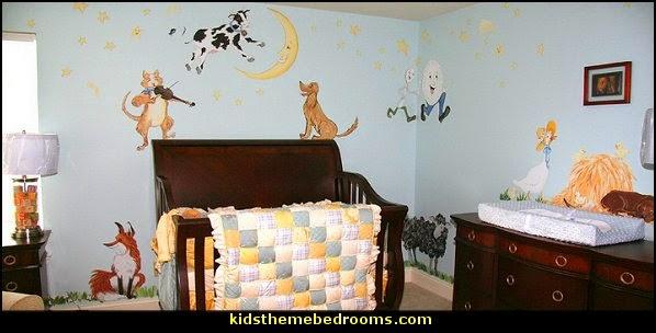 Nursery Rhyme Themed Decorating Moon Stars Le Baby Ideas Storybook