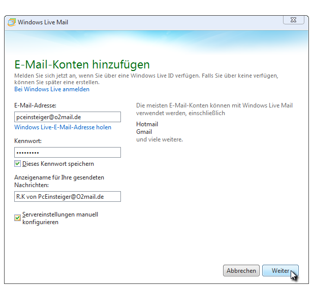 windows live konto erstellen