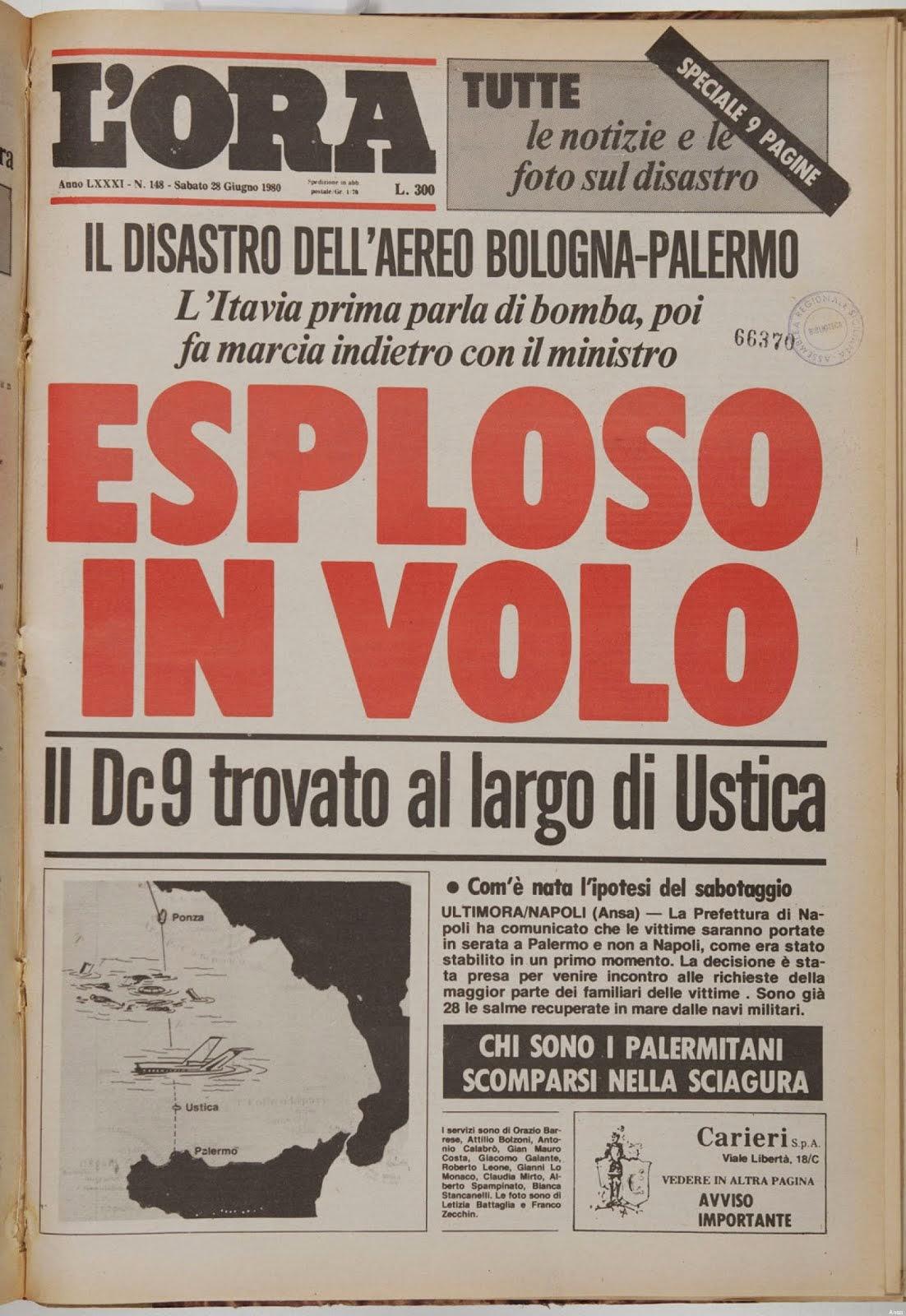 Ustica, 27 giugno 1980