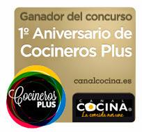 ganador del Concurso de 1º Aniversario de Cocineros Plus
