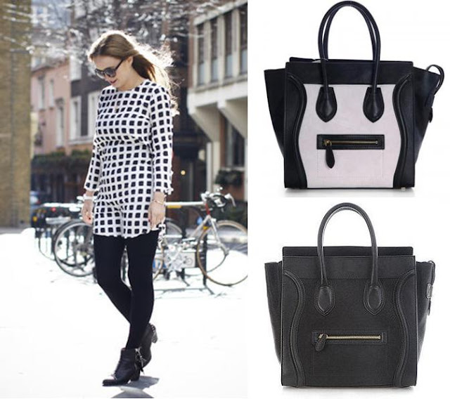 Amarelo+Bordo+moda+fashion+bag+bolsa+celine+luggage+trend+black+white
