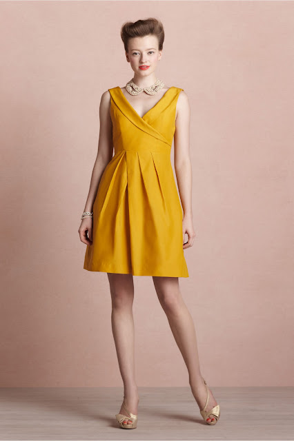 yellow Bridesmaid Dresses by BHLDN
