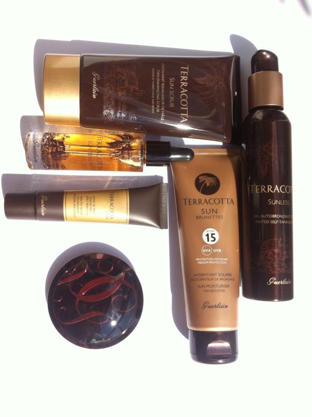 Guerlain Terracotta 2013 4 Seasons Bronzing Powder, Sun Serum, Scrub, Jambes de Gazelle, Skin
