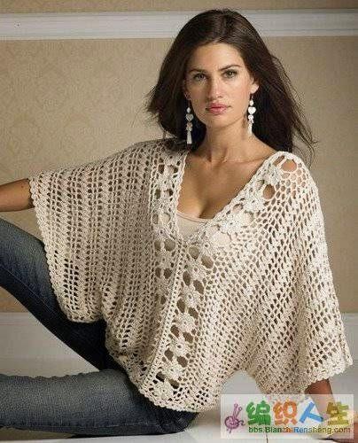 Wijd vallende trui