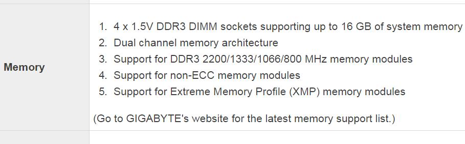memoria ram supportata dal computer