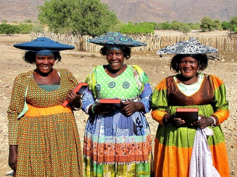 Ovaherero with bibles