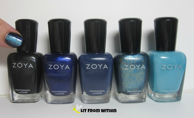 Zoya pretties!!  Raven, Neve, Sailor, Crystal, and Rocky.