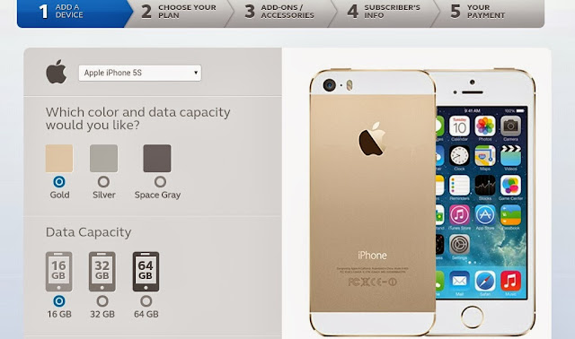 globe iphone 5s 5c pre-order page