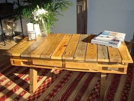 Tables avec des Palettes Recyclées