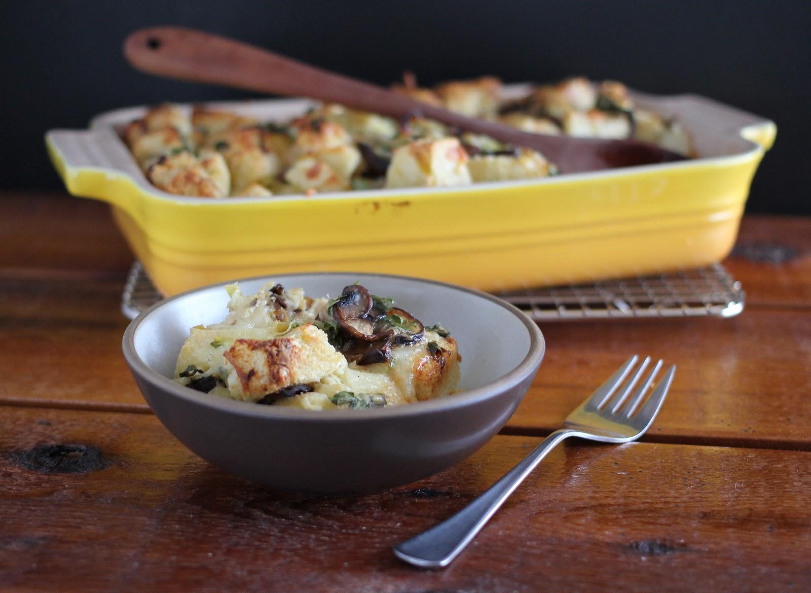 Arctic Garden Studio: Leek and Mushroom Bread Pudding