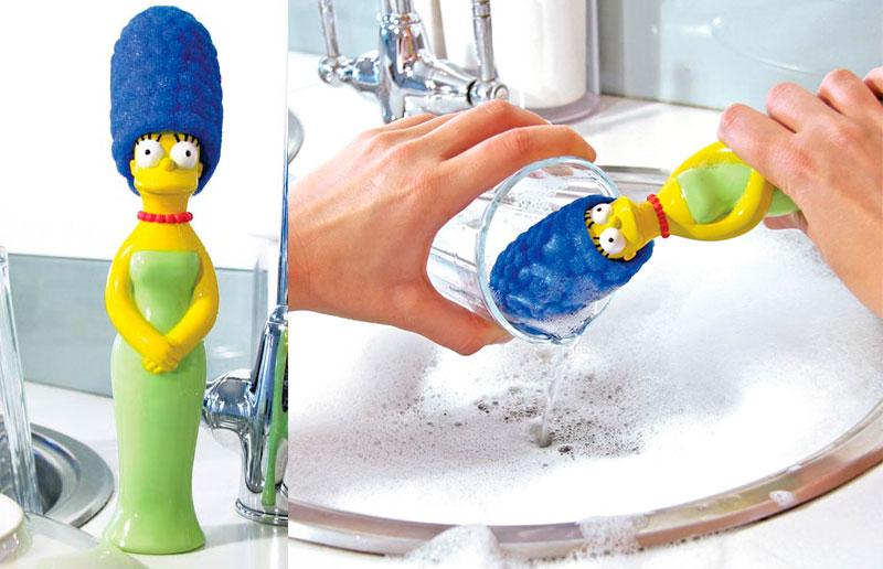 Esponja de cozinha em formato de Marge Simpson