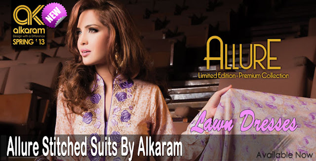 Allure Stitched Suits By Alkaram Collection 2013