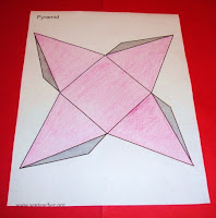 Own nets of different 3d shapes they could use dot or grid paper