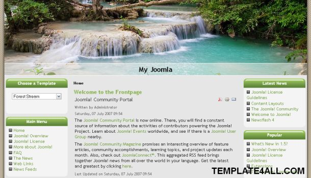 Joomla Forest Green Brown Theme Template