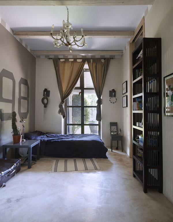 dormitorio individual rustico industrial