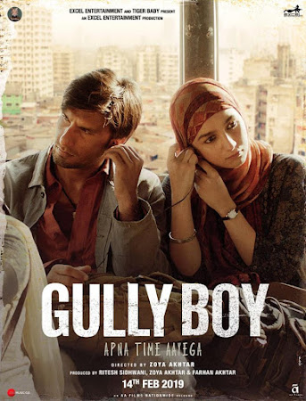 Poster Of Bollywood Movie Gully Boy 2019 300MB Pdvd Full Hindi Movie