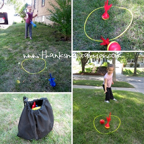 plastic lawn darts
