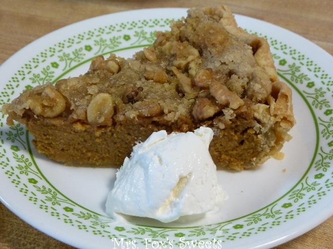 Ms. Fox's Sweets: Maple-Walnut Pumpkin Pie