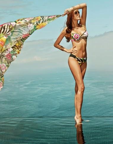 bikini basmar con flores