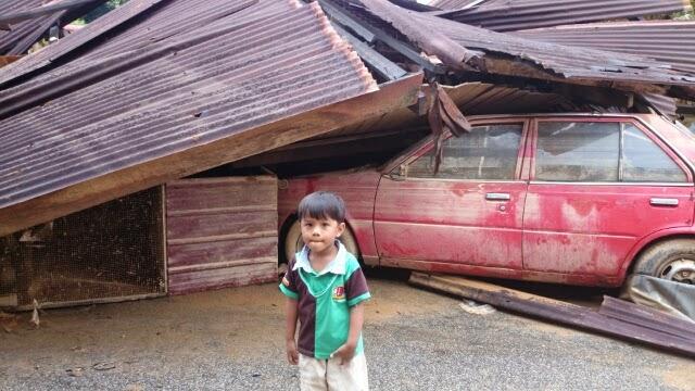 Gambar selepas banjir di Guchil Kuala Krai