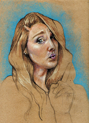 kraft-paper, kraft-paper-drawing, prismacolor-on-kraft-paper