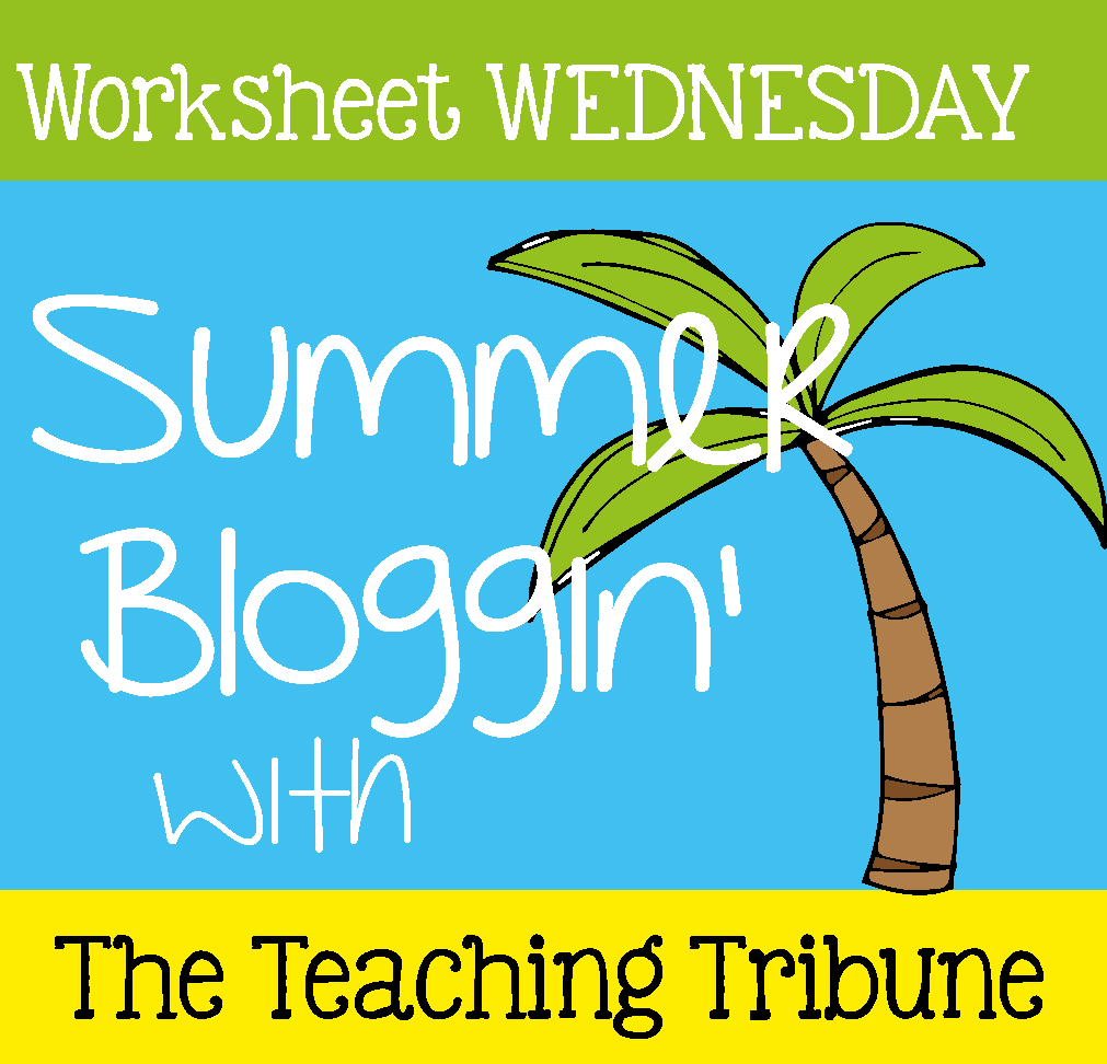 http://www.theteachingtribune.com/2014/06/worksheet-wednesday.html