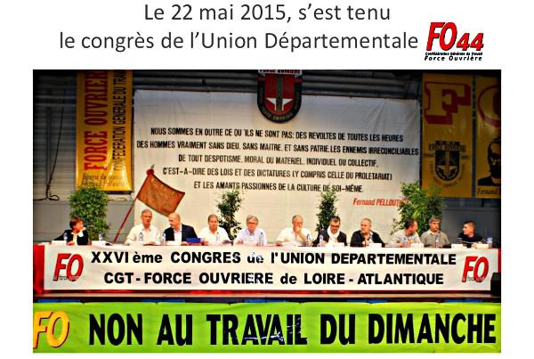 26ème Congrès de l'Union Départementale FO44