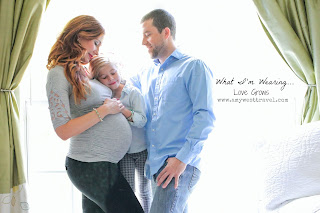 Love Grows in Amy West's Maternity Outfit Post Featuring Destination Maternity