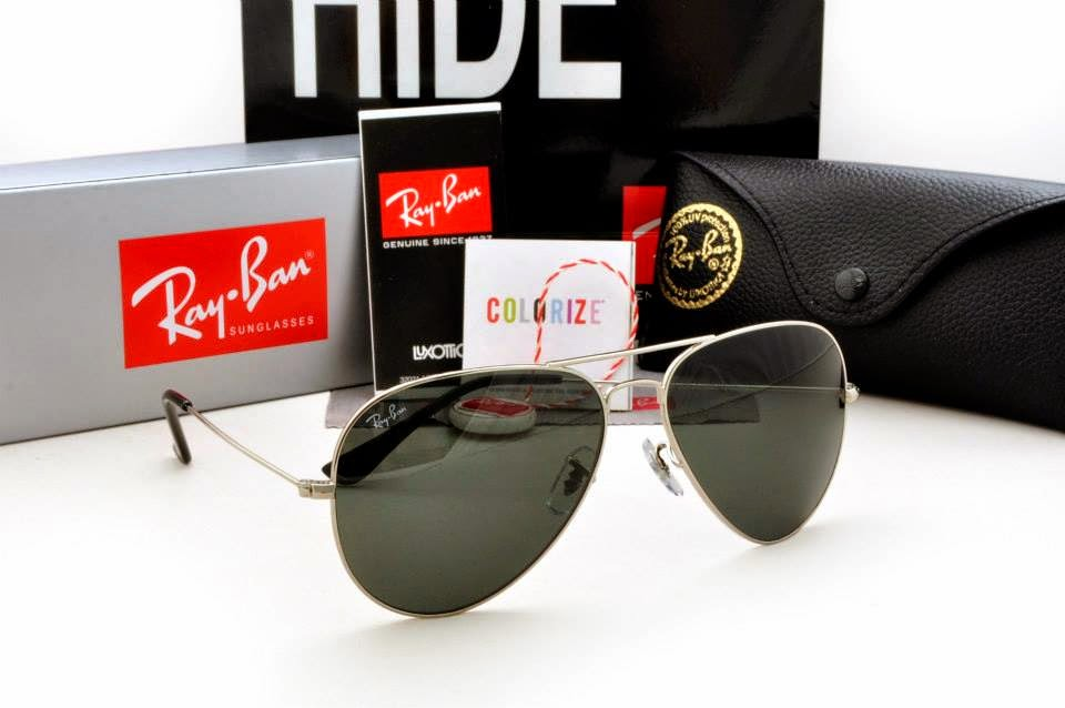 ray ban aviator sunglasses silver frame black lens  sukaku n dukaku dlm belogku: rayban aviator[gred 5a] ..murah !! murah !! murah !!