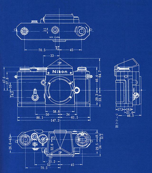 Shooting Film Blueprints Of Nikon Slr Cameras