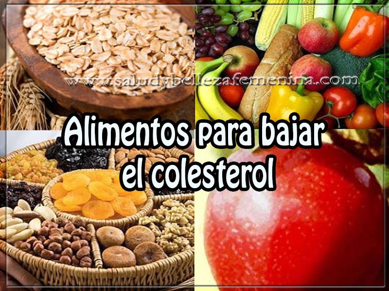 Salud y nutrición,  alimentos para bajar  el colesterol