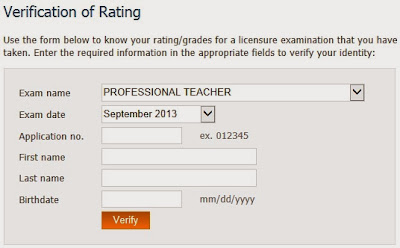 Verification of Ratings September 2013 LET