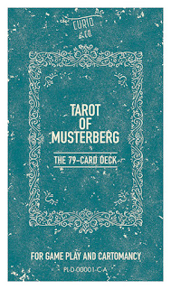 Rough layout for front of Curio & Co. Musterberg Tarot deck - for divination / cartomancy and gameplay - design and illustration by Cesare Asaro - Curio & Co. (Curio and Co. OG - www.curioandco.com)
