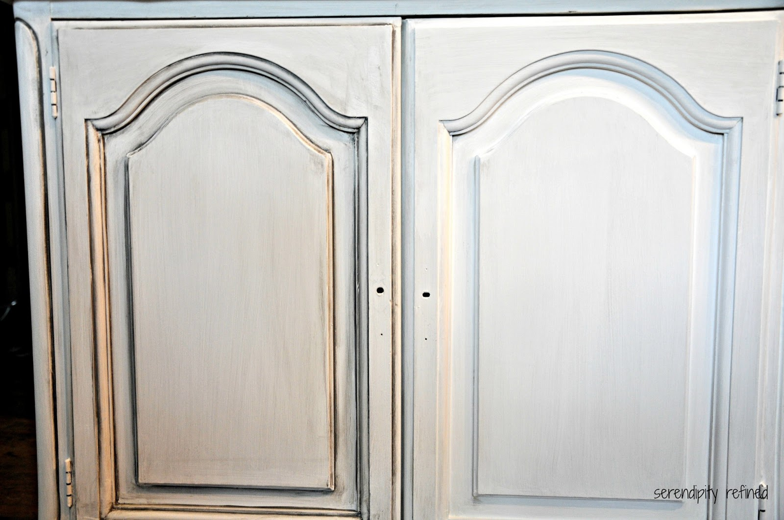 French furniture makeover with maison blanche fox hollow for Antique painting techniques for kitchen cabinets