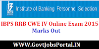 IBPS RRB CWE IV ONLINE EXAM 2015 MARKS OUT