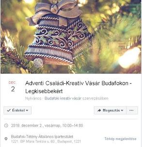 III.Adventi Családi Kreatív Vásár - Legkisebbekért