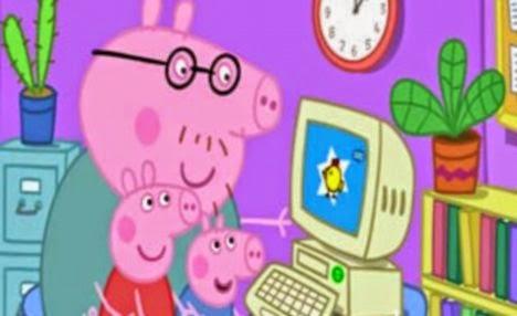 peppa pig papai computador