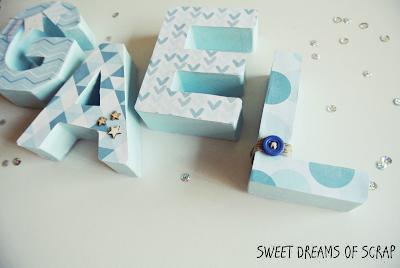 Letras decoradas para gael sweet dreams of scrap - Letras decoradas scrap ...