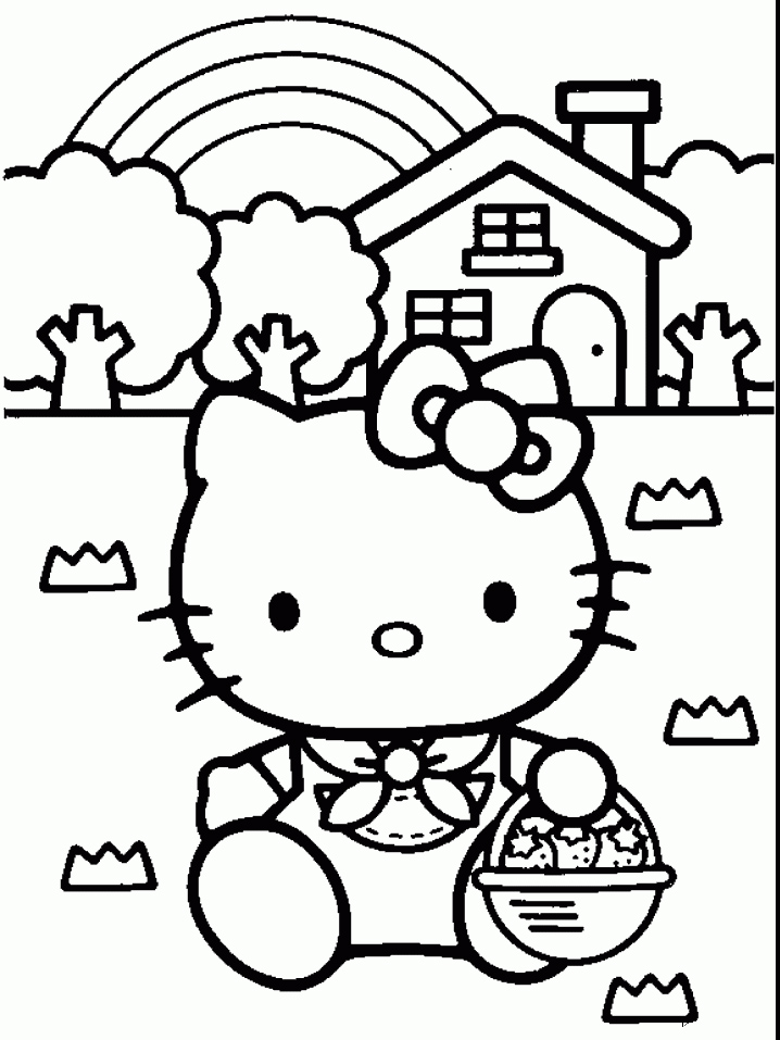 Bewitching image regarding printable hello kitty coloring pages