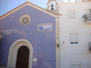 Nazaré Beach beautiful Santo António Church photo