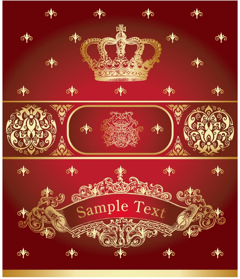 高貴な王室の紋章 royal heraldry and arms イラスト素材1