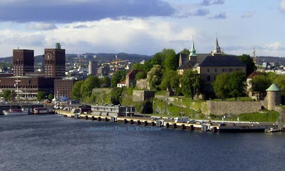 Outstanding scenery of 700 years old  Akershus Fortress, Oslo