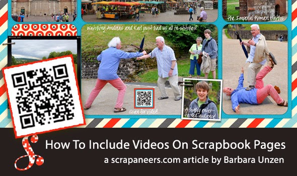 http://scrapaneers.com/how-to-include-videos-on-scrapbook-pages/